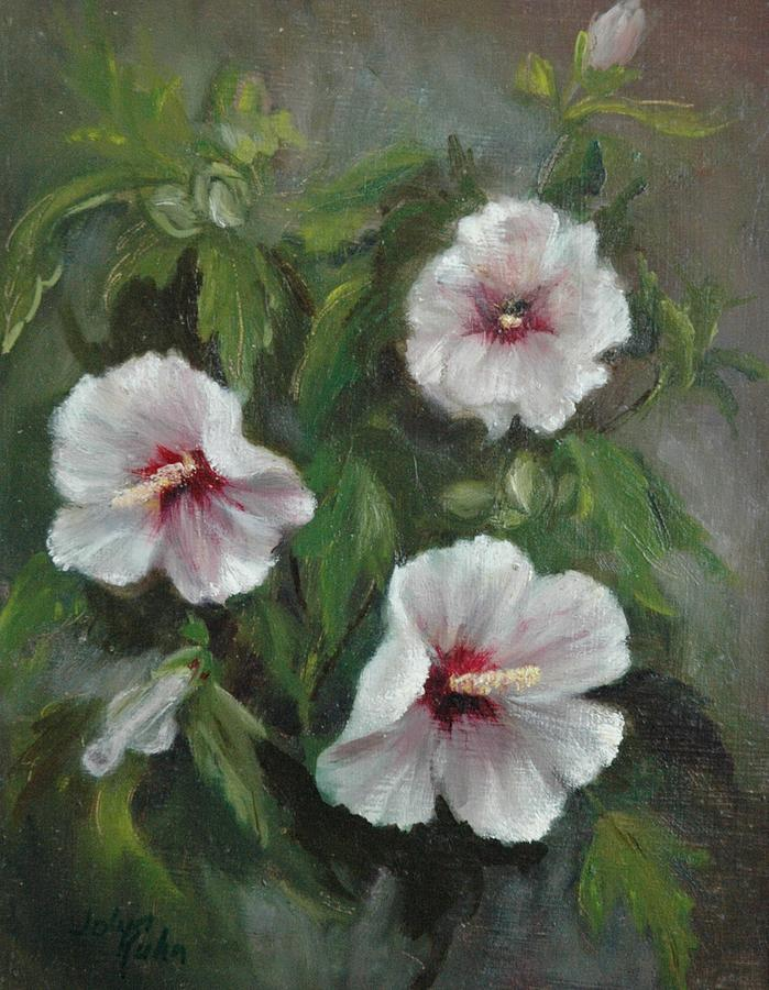 Rose Of Sharon Painting by Jolyn Kuhn
