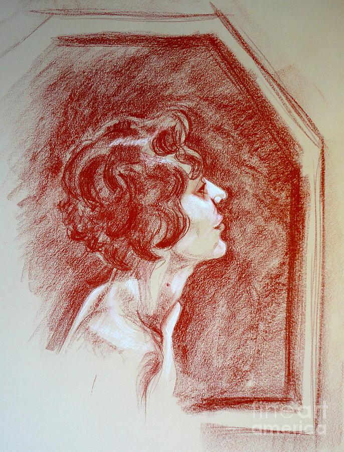 Rose Portrait Pastel by Alessandra Di Noto