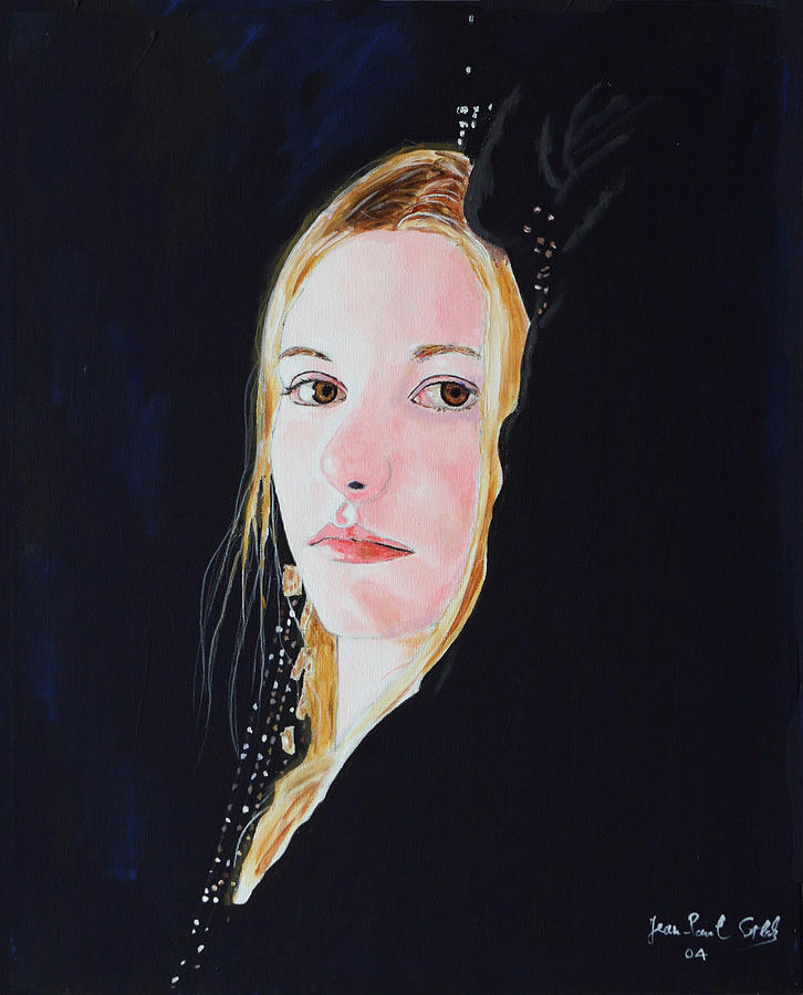 Woman Painting - Rose Princess - Beyond Hope and Fear by Jean-Paul Setlak