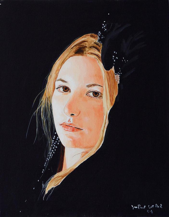 Divine Feminine Painting - Rose Princess - Seeing the Self by Jean-Paul Setlak