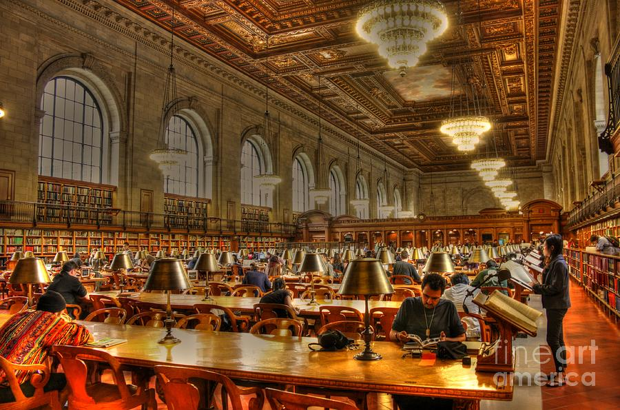 Hdr Photograph - Rose Reading Room by David Bearden