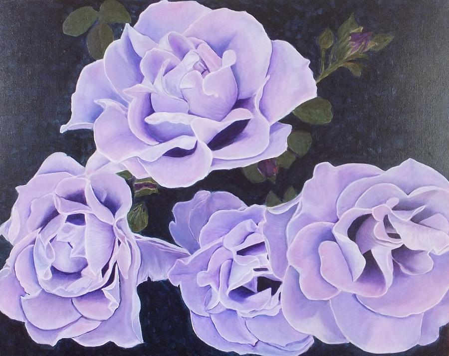 Rose Painting - Rose Ripples by Vicki Watson