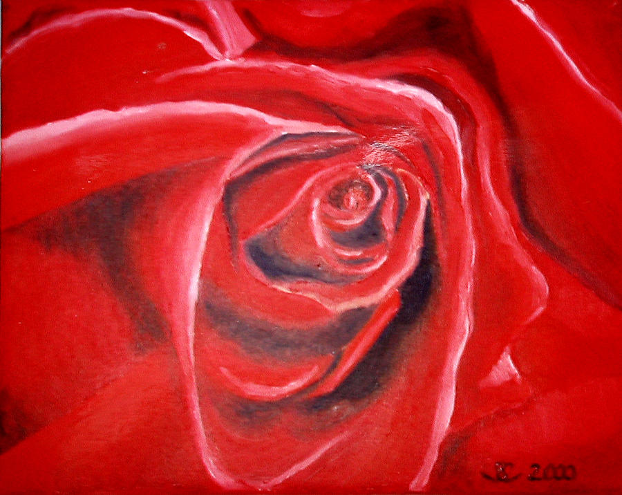 Rose Painting - Rose by Sandra Yegiazaryan