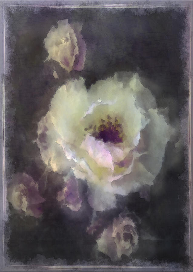 Digital Painting Digital Art - Rose Spray by Jill Balsam