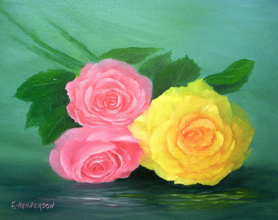Roses Painting - Rose Trio by Francine Henderson