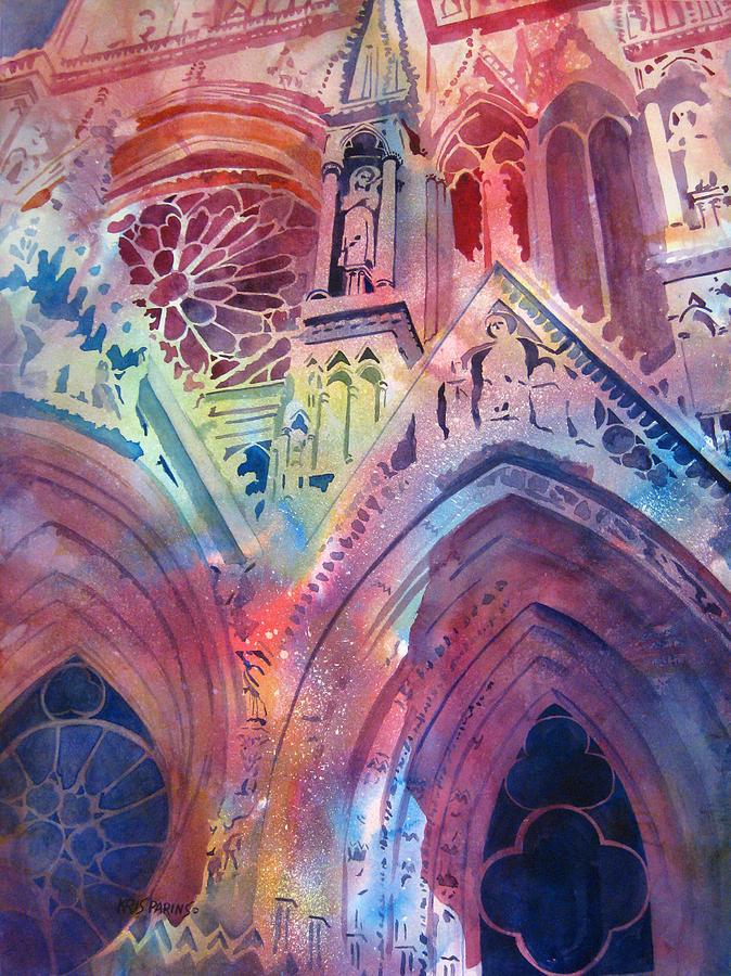 Rose Window Painting By Kris Parins
