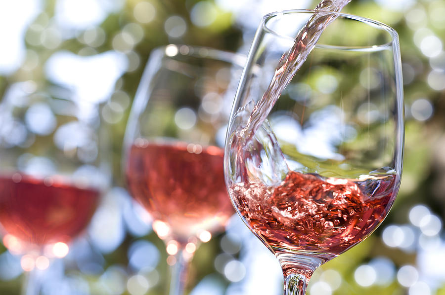 Rose Wine Alfresco Photograph by MarkSwallow