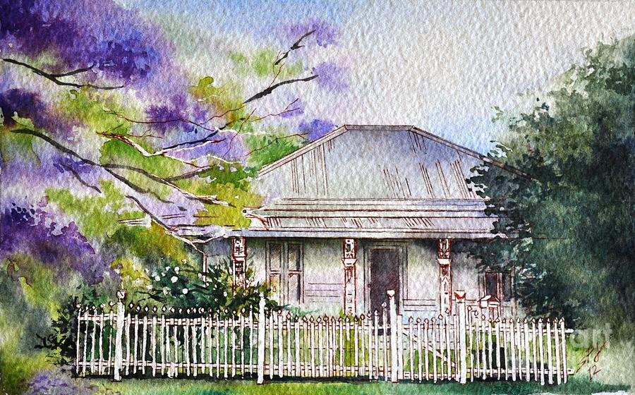 Roseabellas House Bellingen Painting by Sandra Phryce-Jones