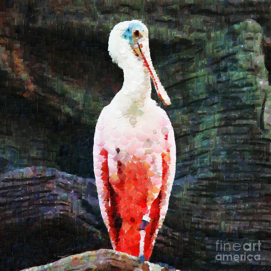 Roseate Painting - Roseate Spoonbill Painting by Magomed Magomedagaev
