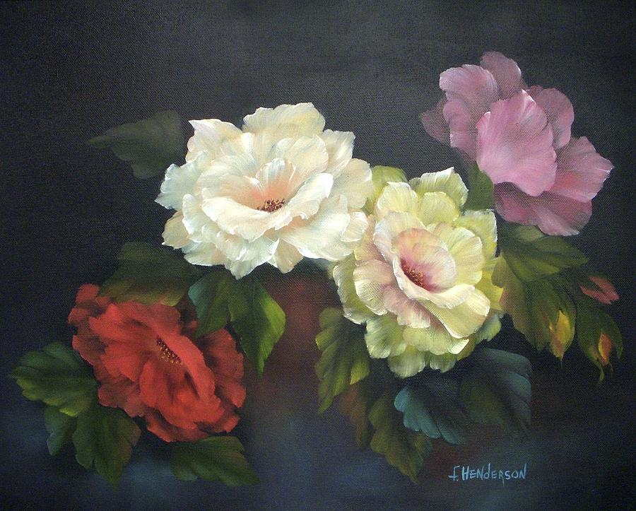 Red Rose Painting - Roses-4-You by Francine Henderson
