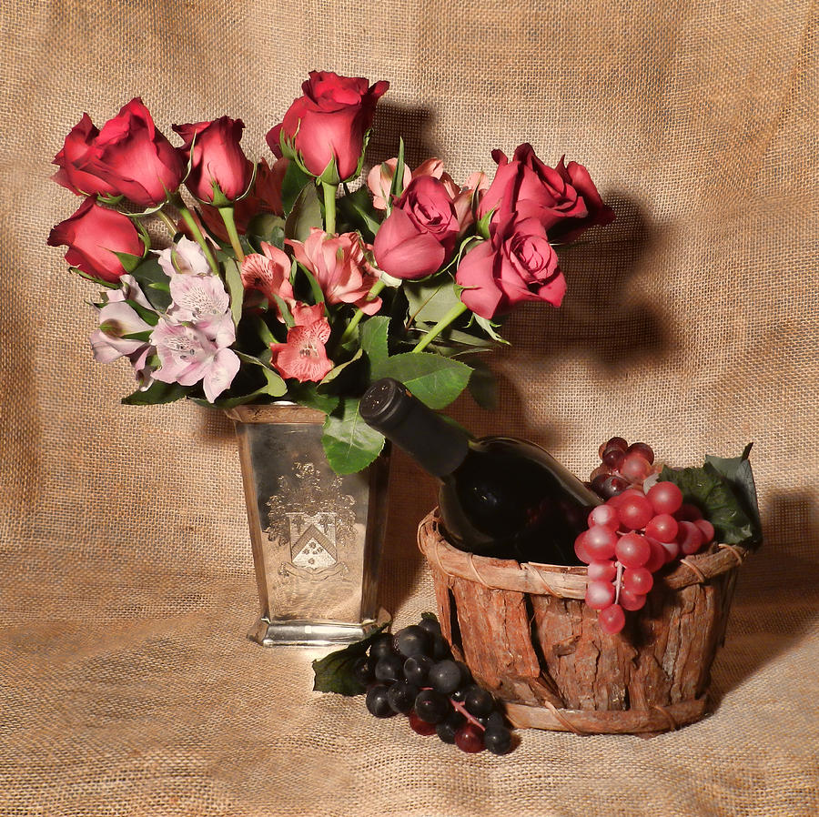 Roses And Astroemeria Photograph