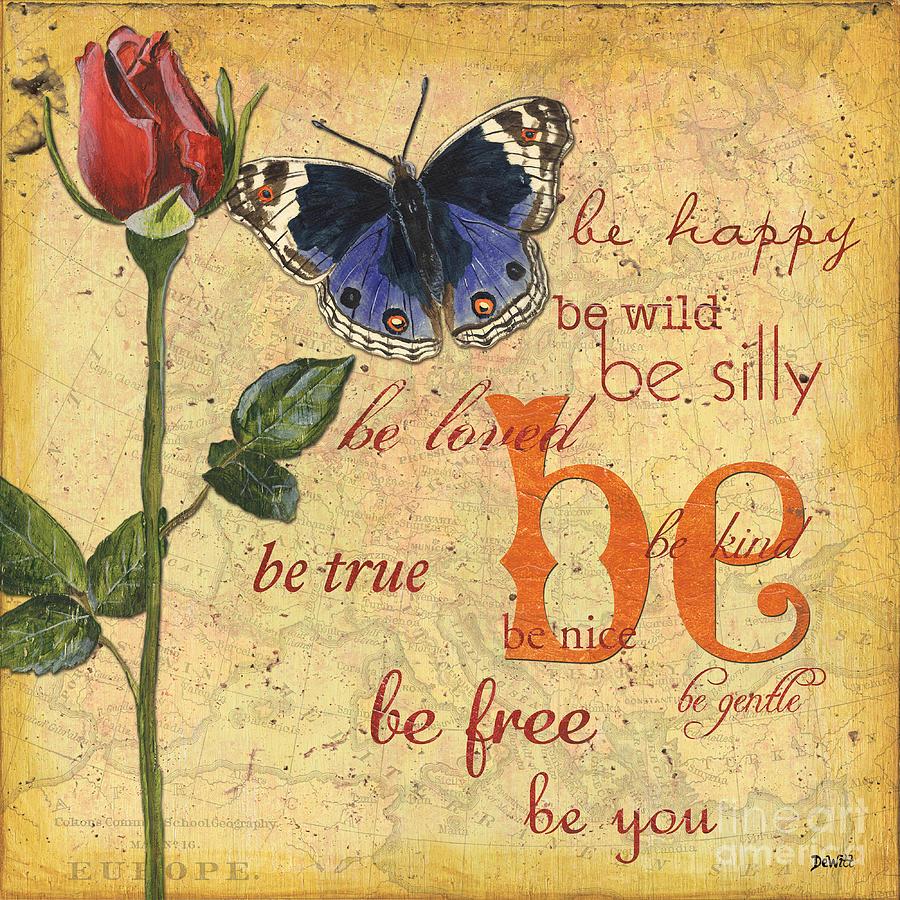 Butterflies Mixed Media - Roses and Butterflies 1 by Debbie DeWitt