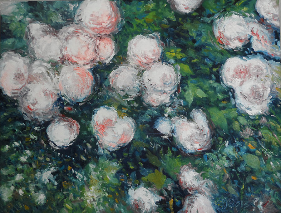 Roses Painting - Roses At Diemersfontein Cape Town South Africa by Enver Larney