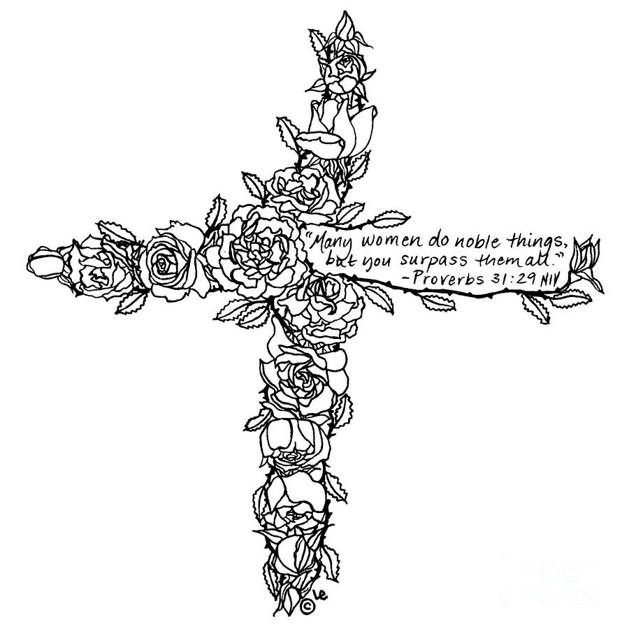 Roses Cross by Leigh Eldred