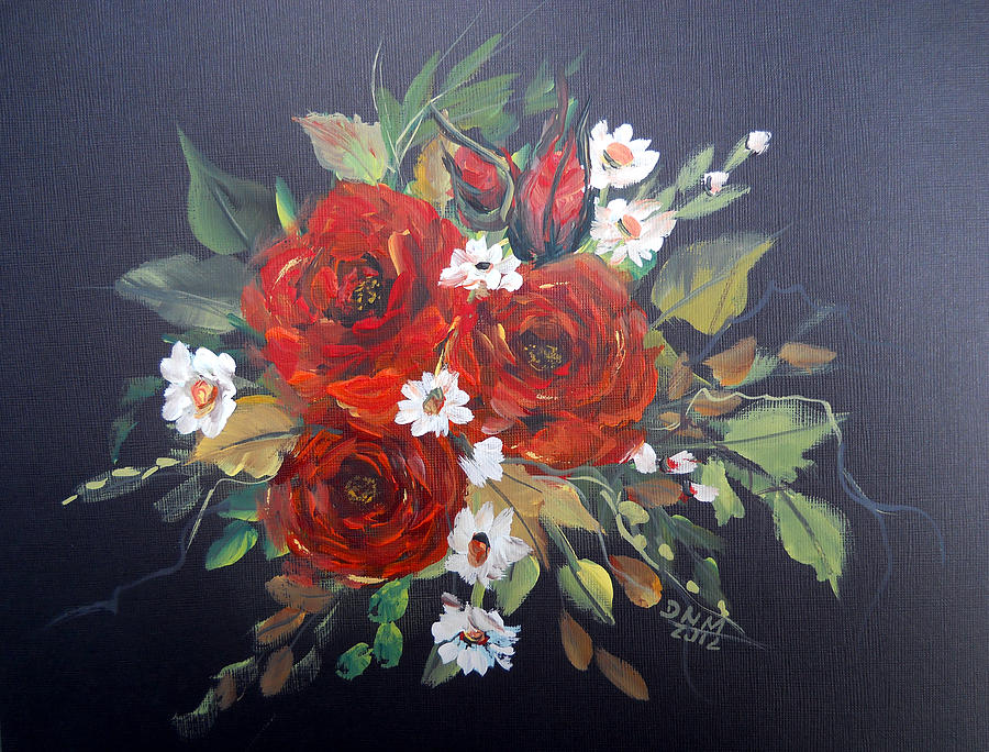 Roses Painting - Roses by Dorothy Maier