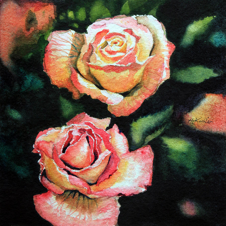 Roses Painting - Roses I by Hanne Lore Koehler