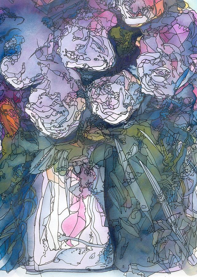 Roses Painting - Roses In A Vase by Ingela Christina Rahm