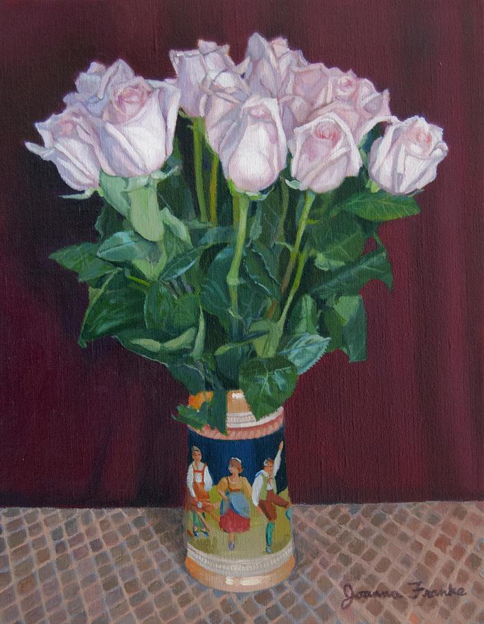 Roses Painting - Roses In Beer Stein by Joanna Franke