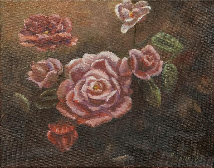 Pink Roses Painting - Roses In The Sun by Elizabeth Lane