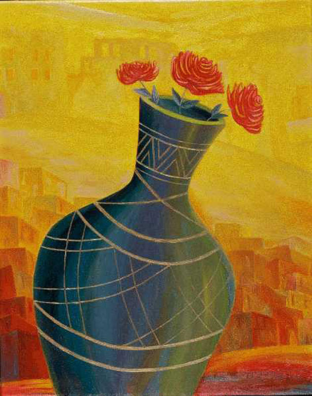 Roses Painting - Roses by Israel Tsvaygenbaum