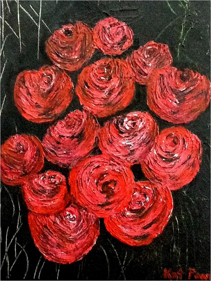 Roses Painting - Roses by Kat Poon