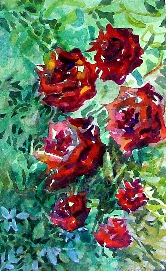 Rose Painting - Roses by Mindy Newman