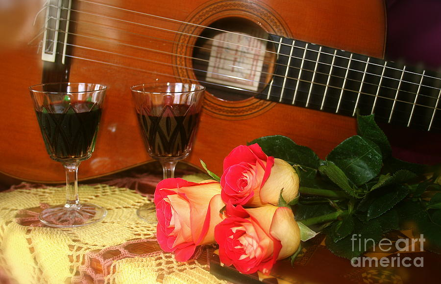 Guitar 'n Roses by The Art of Alice Terrill