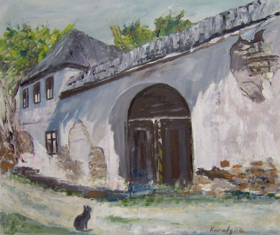 House Painting - Rosia Montana Old House by Maria Karalyos