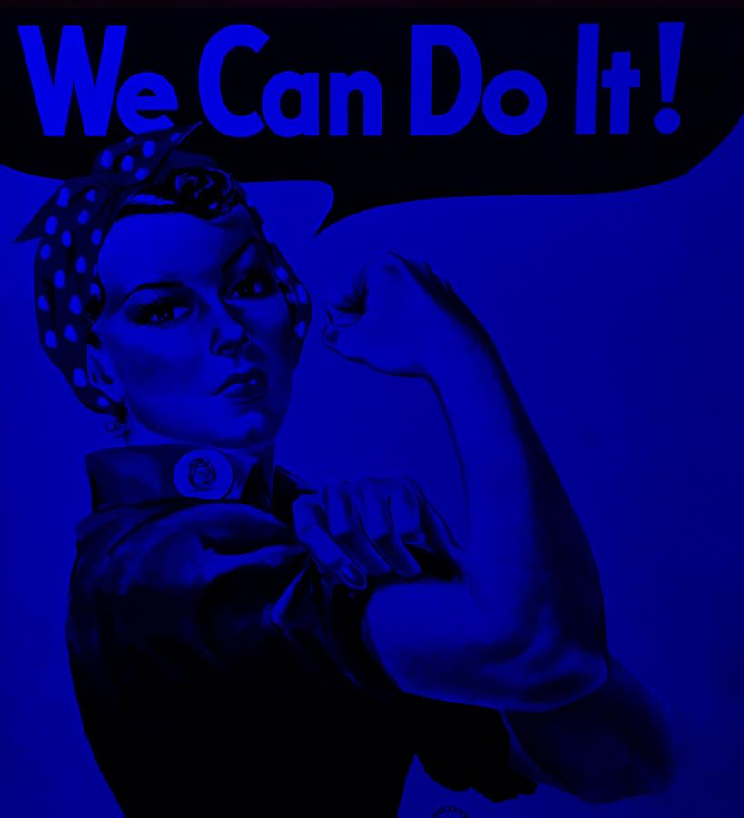 Rosie The Riveter Photograph - Rosie In Blue by Rob Hans