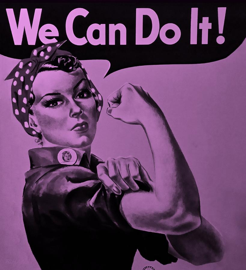 Rosie The Riveter Photograph - Rosie In Pink by Rob Hans