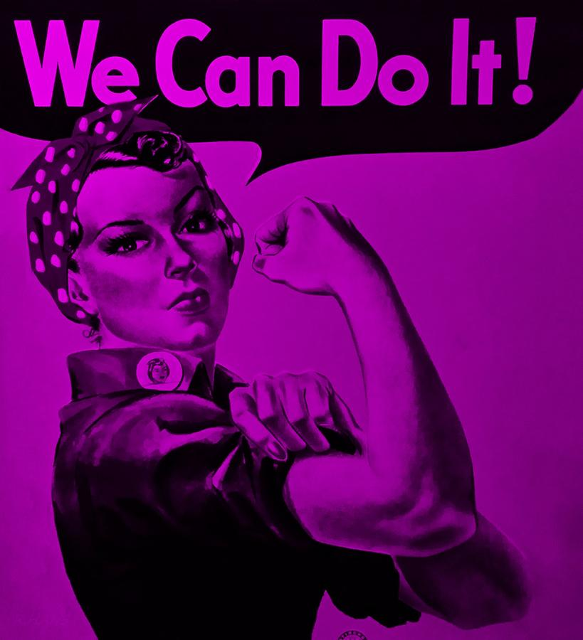 Rosie The Riveter Photograph - Rosie In Purple by Rob Hans