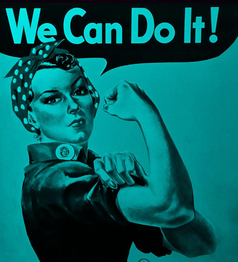 Rosie The Riveter Photograph - Rosie In Turquoise by Rob Hans