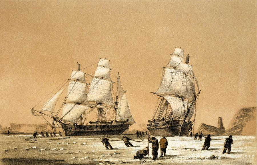 Hms Enterprise Photograph - Ross Arctic Search Expedition, 1848-9 by Science Photo Library