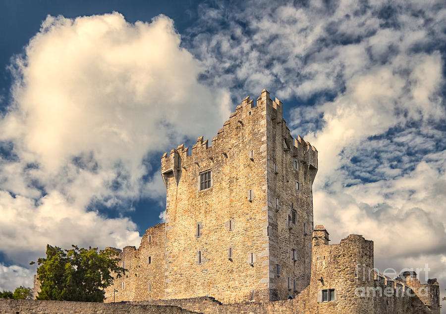 Ancient Photograph - Ross Castle by Gabriela Insuratelu