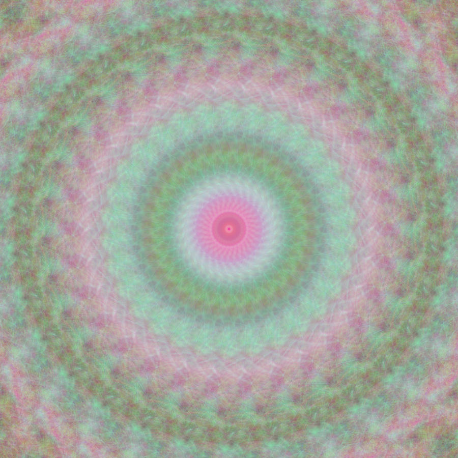Rosy Digital Art - Rosy Kaleidoscope 1 by Rhonda Barrett