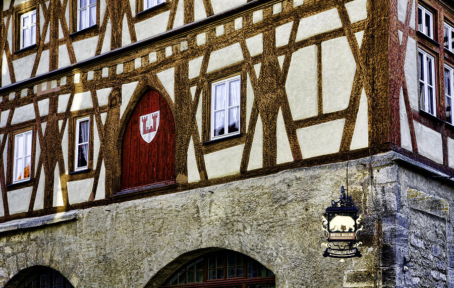 Rothenburg Photograph - Rothenburg Geometry by Joanna Madloch