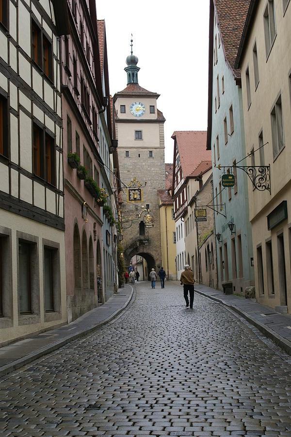 Cobblestone Photograph - Rothenburg ob der Tauber by Heidi Poulin