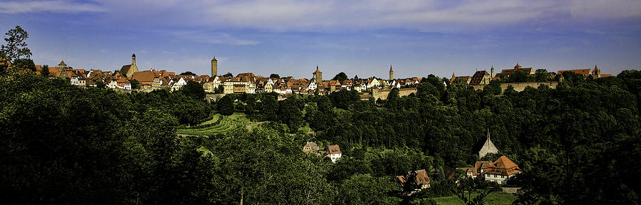 Rothenburg Photograph - Rothenburg Panorama by Joanna Madloch
