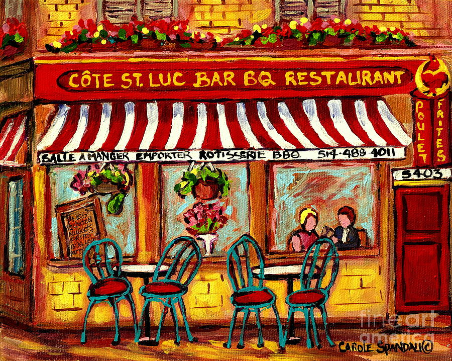 rotisserie cote st luc bbq paris style sidewalk cafe. Black Bedroom Furniture Sets. Home Design Ideas
