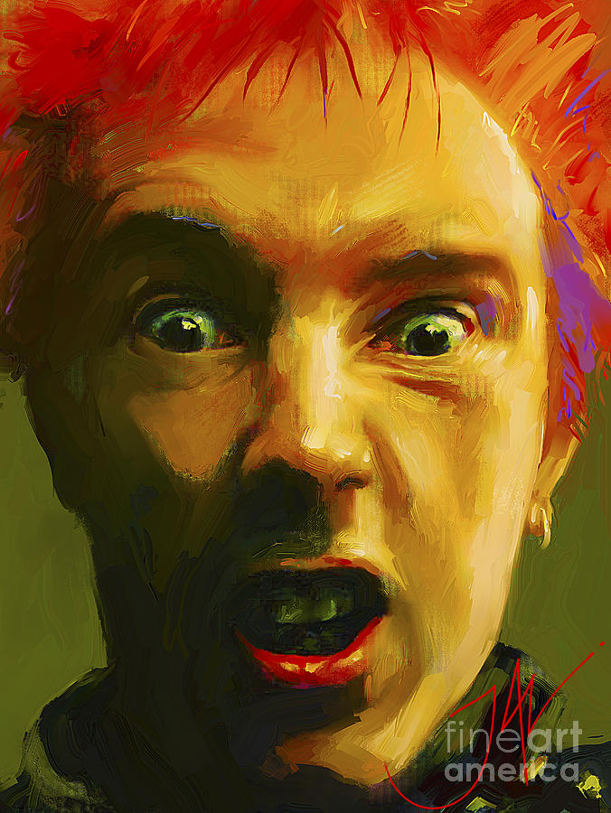Johnny Rotten Digital Art - Rotten by John Lowther