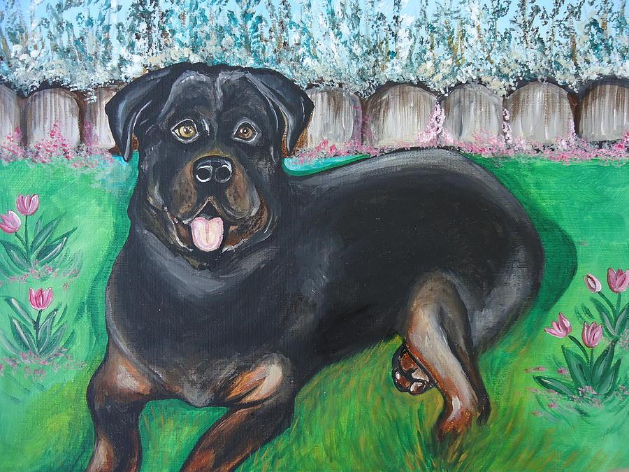 Rottweiler by Leslie Manley