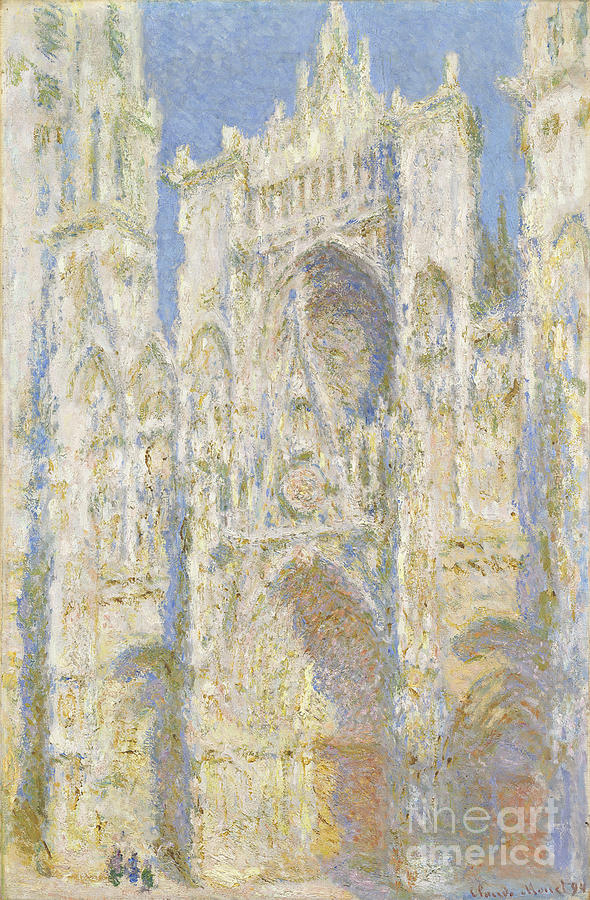 Rouen Cathedral Painting - Rouen Cathedral West Facade by Claude Monet