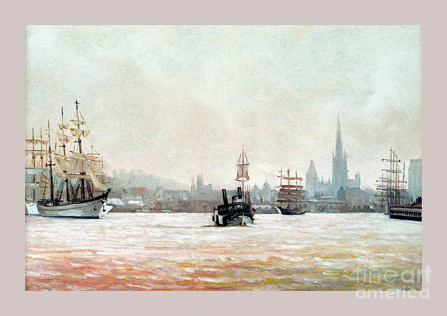 Rouen Painting - Rouen-tall Ships by Caroline Beaumont