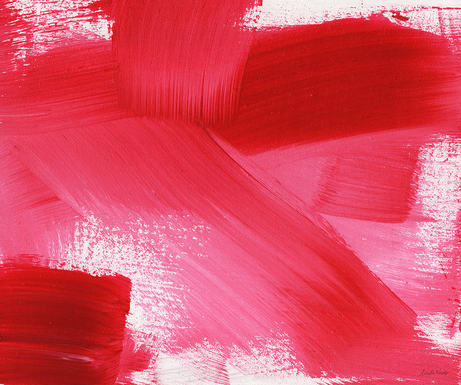 Rouge 2- Horizontal Abstract Painting Painting