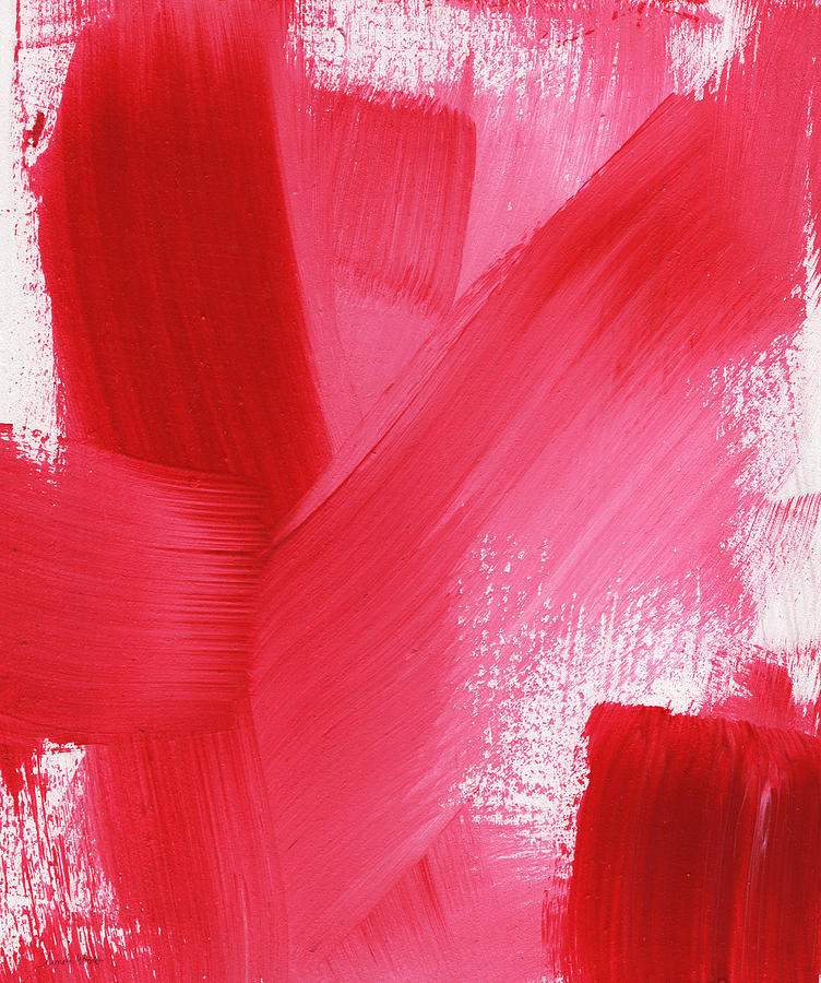 Rouge- Vertical Abstract Painting Painting