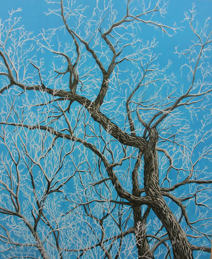 Tree Painting - Rough Elbows by Sherri Anderson