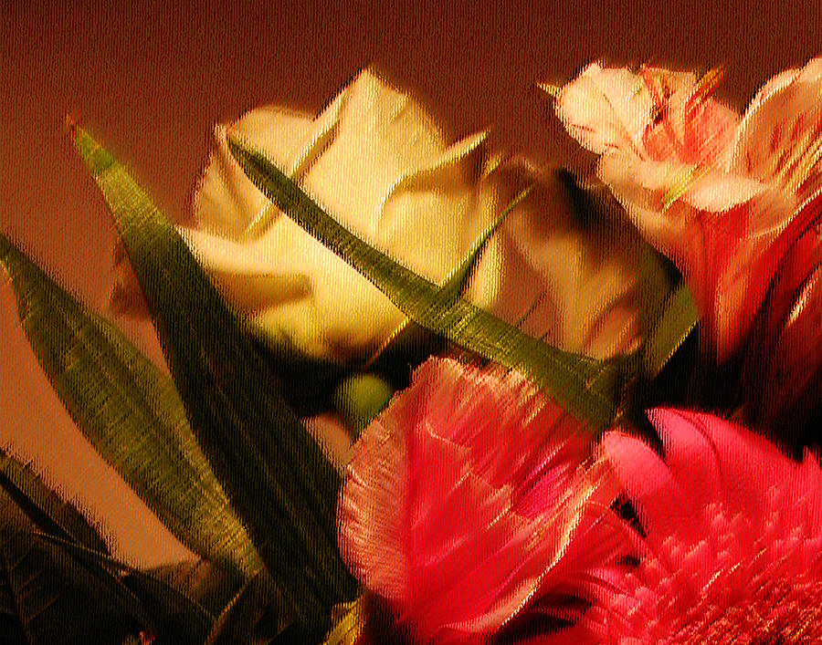 Abstract Photograph - Rough Pastel Flowers - Award-winning Photograph by Gerlinde Keating - Galleria GK Keating Associates Inc