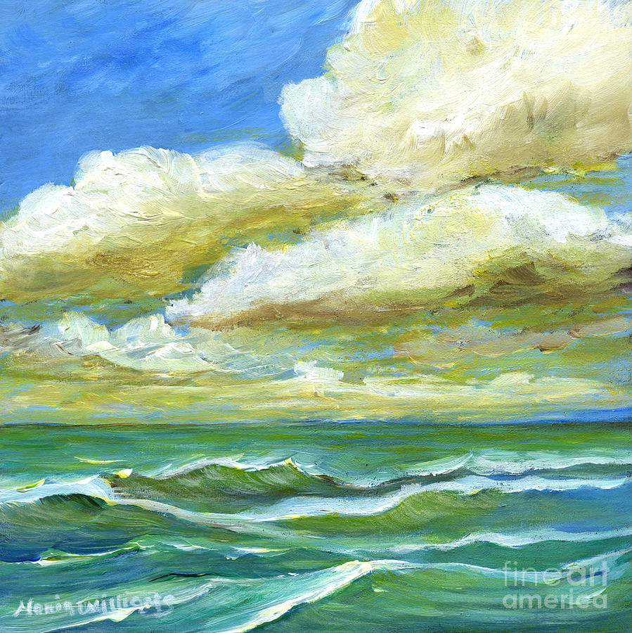 Storm Painting - Rough Waters by Maria Williams