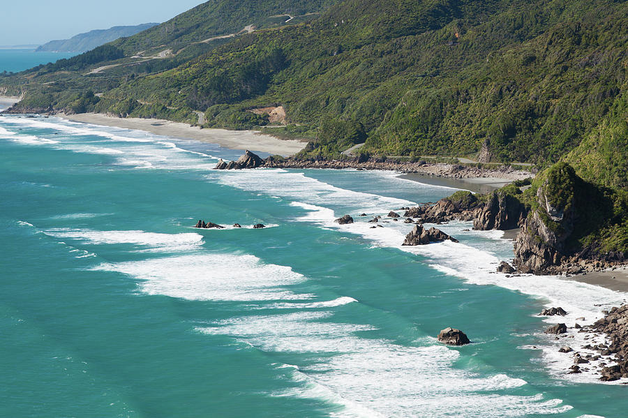 Rough West Coast Of New Zealand Photograph by Paul Boyden - Polimo