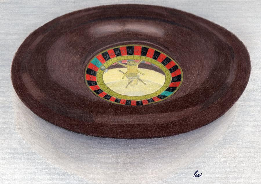 Roulette Drawing - Roulette Wheel by Bav Patel